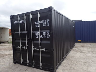 CONTAINER CONVERSION CASE STUDIES 20ft ply lined and repainted CS25237