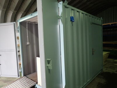 CONTAINER CONVERSION CASE STUDIES 10ft Ticket booth CS25991