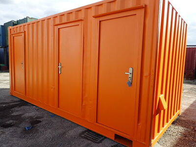 CONTAINER CONVERSION CASE STUDIES 18ft ply lined office and store CS24470