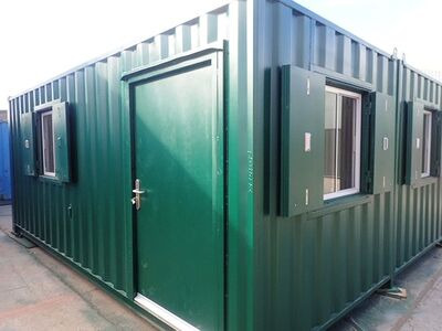 CONTAINER CONVERSION CASE STUDIES 2 x 20ft side joined clubhouse CS32813