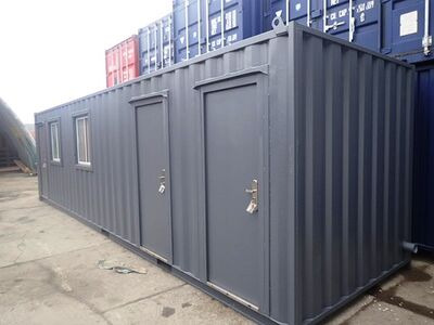 CONTAINER CONVERSION CASE STUDIES 30ft office with canteen and toilets CS32450