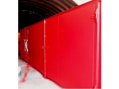 CONTAINER CONVERSION CASE STUDIES 30ft with 16ft wide side doors CS32301