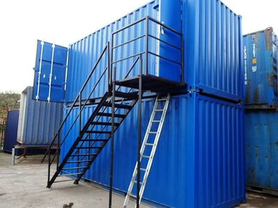 CONTAINER CONVERSION CASE STUDIES 2 x 20ft containers stacked, with staircase CS32919