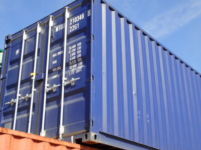 SHIPPING CONTAINERS 20ft ISO blue MTBU2103466