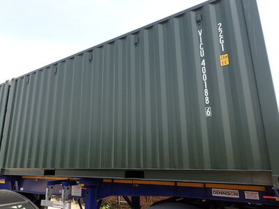 SHIPPING CONTAINERS 20ft ISO green VICU4001886
