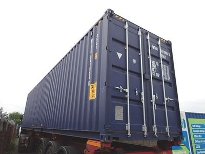 SHIPPING CONTAINERS 40ft ISO blue MTBU0410606