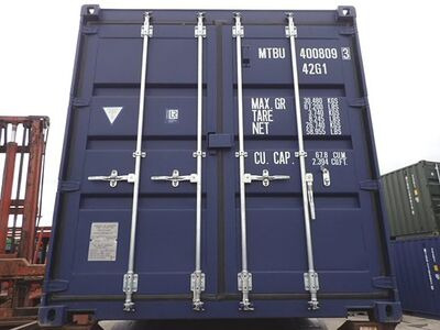 SHIPPING CONTAINERS 40ft ISO blue MTBU4008093