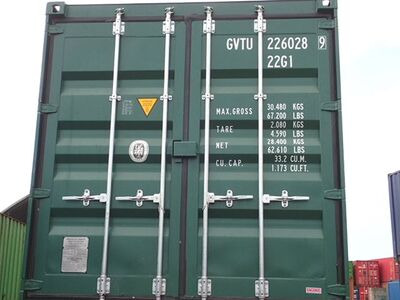 SHIPPING CONTAINERS 20ft ISO green GVTU2260289