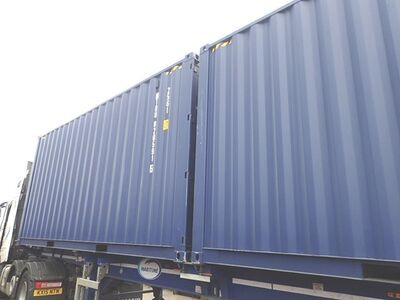 SHIPPING CONTAINERS 20ft ISO high cube, blue MTBU0205915
