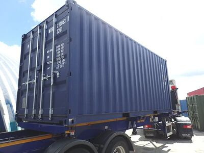 SHIPPING CONTAINERS 20ft ISO blue MTBU2106531