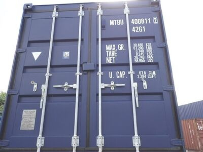 SHIPPING CONTAINERS 40ft ISO blue MTBU4008112