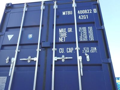 SHIPPING CONTAINERS 40ft ISO blue MTBU4008220