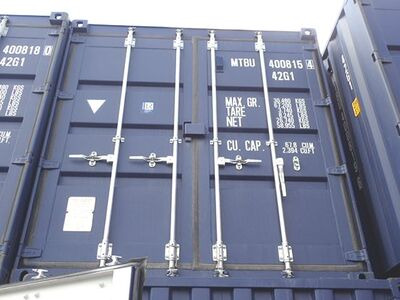 SHIPPING CONTAINERS 40ft ISO blue MTBU4008154