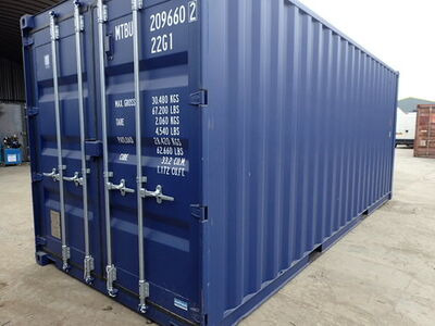 SHIPPING CONTAINERS 20ft ISO blue 30075
