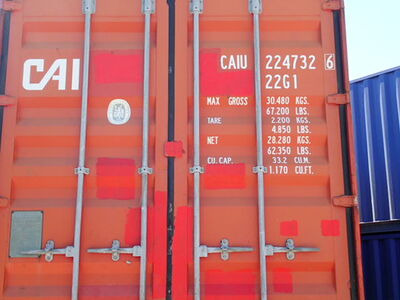 SHIPPING CONTAINERS 20ft ISO red CAIU2247326