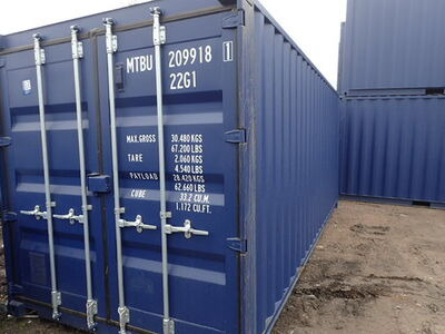 SHIPPING CONTAINERS 20ft ISO blue 21516