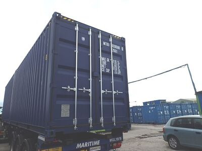SHIPPING CONTAINERS 20ft high cube blue MTBU0205900