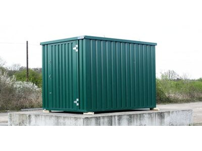 FLAT PACK CONTAINERS FOR SALE 4m self assembly green 37694
