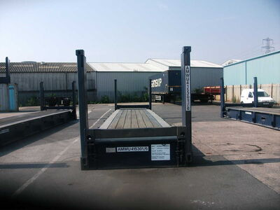 SHIPPING CONTAINER FLAT RACK SC12 click to zoom image