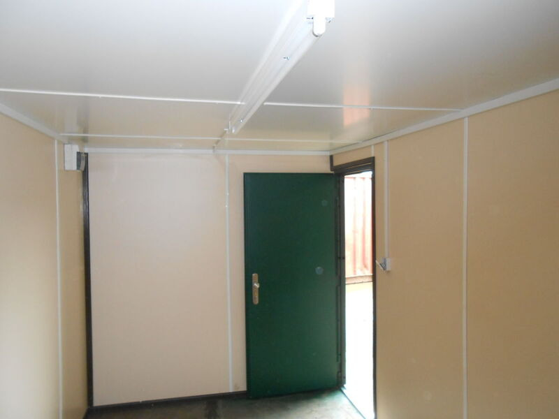 CONTAINER CONVERSIONS 10ft personnel door, lined and electrics click to zoom image