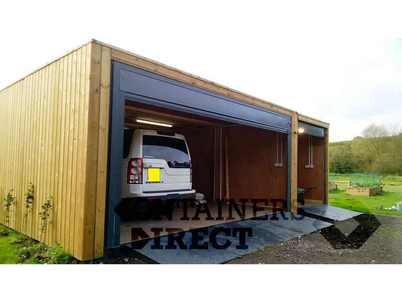 CONTAINER CONVERSIONS Cladded garage unit 24ft x 20ft CS37850 click to zoom image