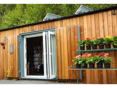 Container Conversions 40ft cladded garden centre shop click to zoom image