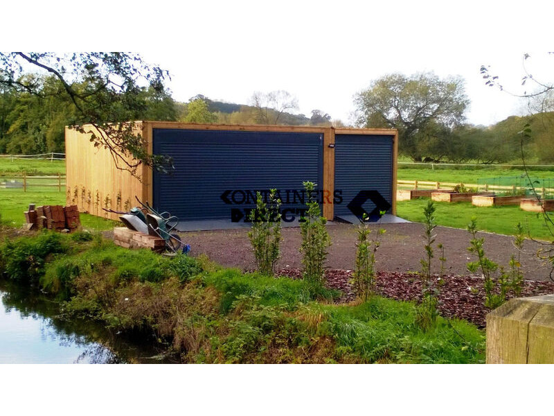 CONTAINER CONVERSIONS garage unit 24ft x 20ft CS37850 click to zoom image