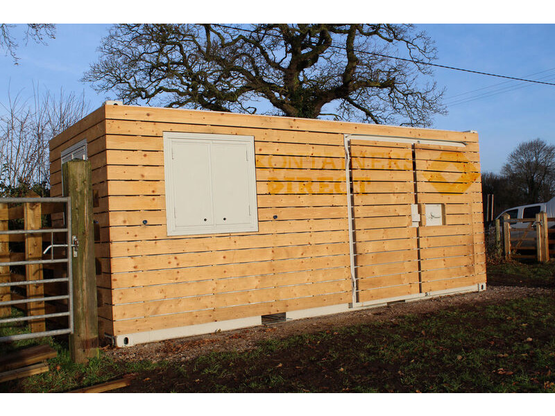 CONTAINER CONVERSIONS 20ft cladded workshop CS34860 click to zoom image