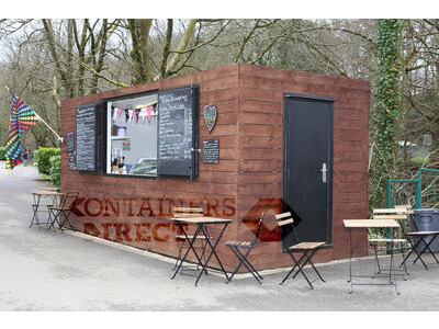 Shipping Container Conversions 20ft cladded rural cafe