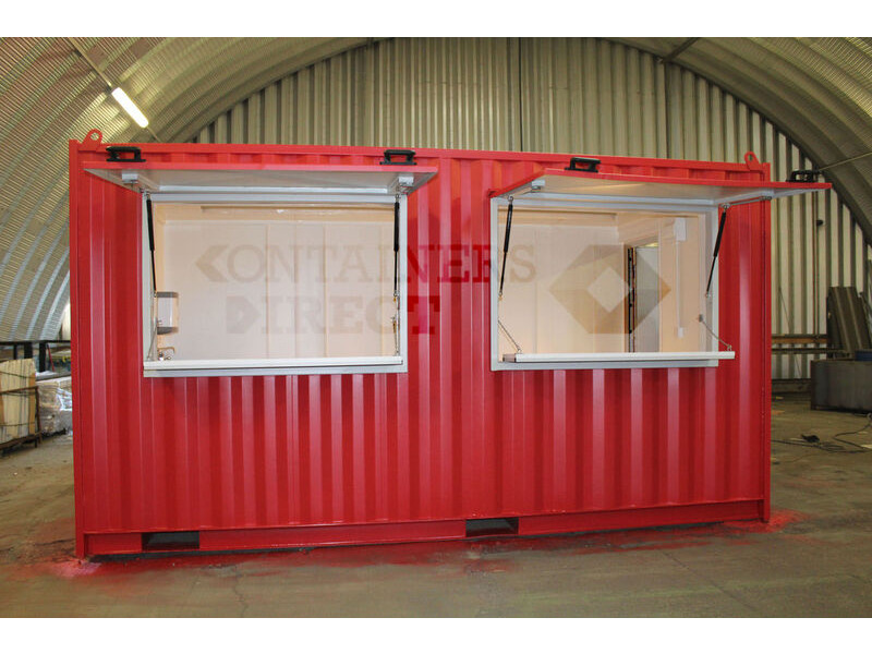 Shipping Container Conversions 15ft pop up cafe click to zoom image