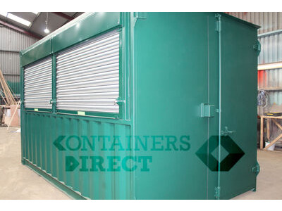 CONTAINER CONVERSIONS 14ft pop up bar with roller shutter hatch CS44254