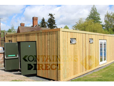 Shipping Container Conversions 20ft x 32ft swimming pool changing rooms