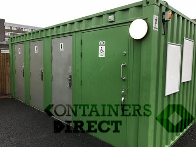 CONTAINER CONVERSIONS WC units with 4 toilet compartments CSWC01