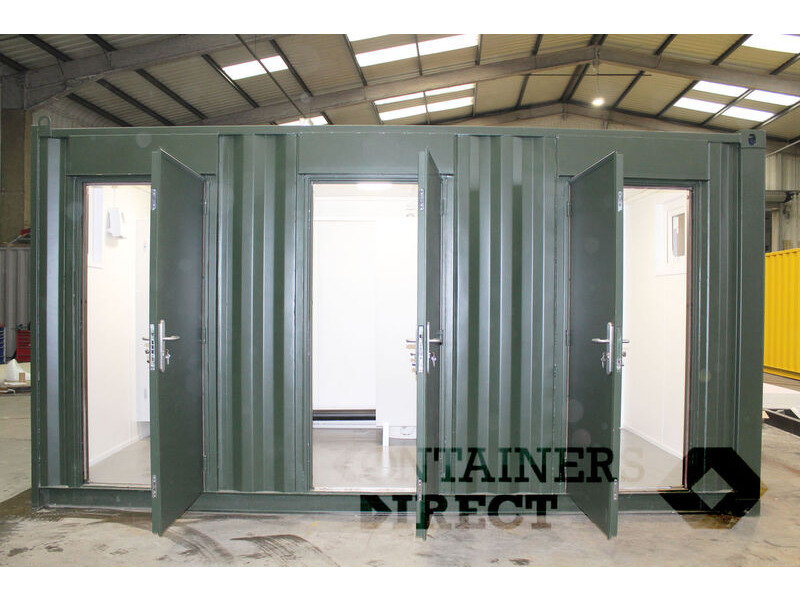 CONTAINER CONVERSIONS 16ft toilet block CS43220 click to zoom image
