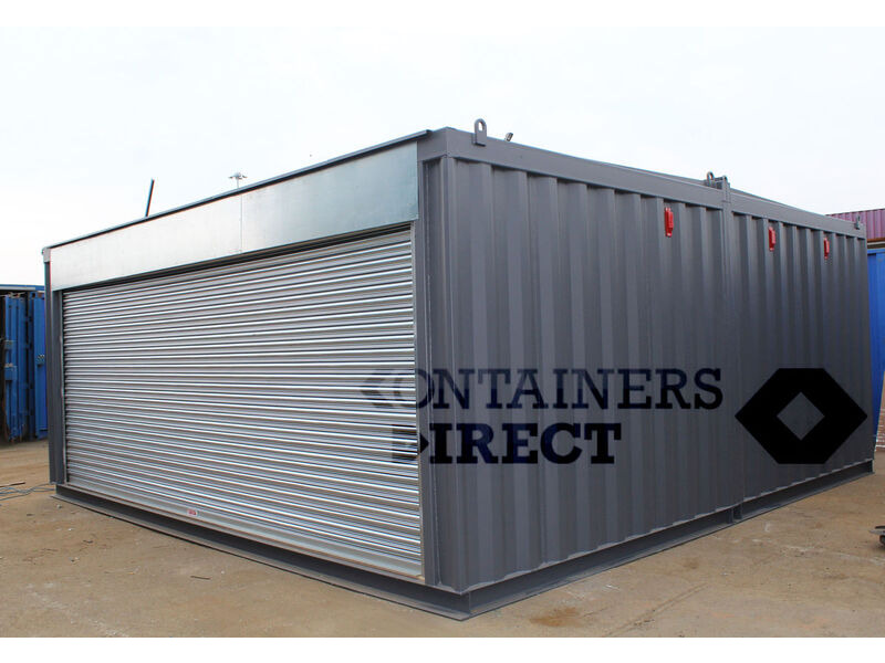 CONTAINER CONVERSIONS 20ft x 20ft garage unit click to zoom image