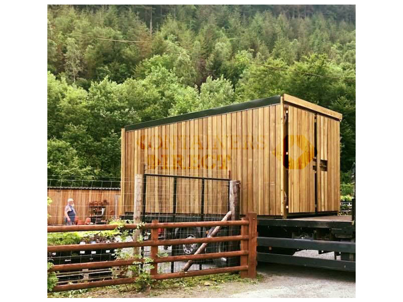CONTAINER CONVERSIONS 20ft cladded farm shop CS44416 click to zoom image
