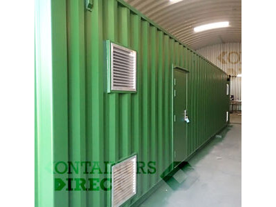 Shipping Container Conversions 40ft boiler house with side extension