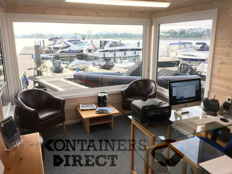 Container Conversions 35ft x 10ft marina office click to zoom image