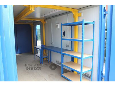 Shipping Container Conversions 20ft workshop with lifting beam