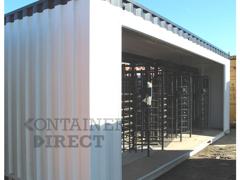 Shipping Container Conversions 24ft with turnstile controlled access click to zoom image