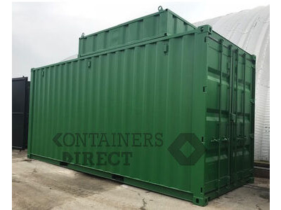 Shipping Container Conversions 20ft boiler house with top box