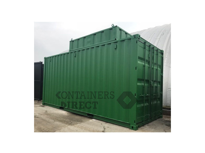 CONTAINER CONVERSIONS 20ft boiler house with top box click to zoom image