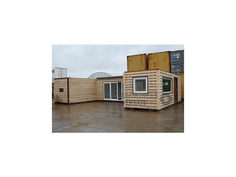 CONTAINER CONVERSIONS 3 x 20ft joined up store, workshop and kitchen CS49212 click to zoom image