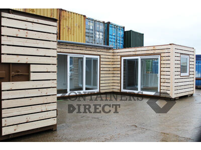 Shipping Container Conversions 3 x 20ft joined up store, workshop and kitchen