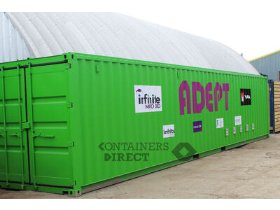 Shipping Container Conversions 40ft renewable energy equipment store