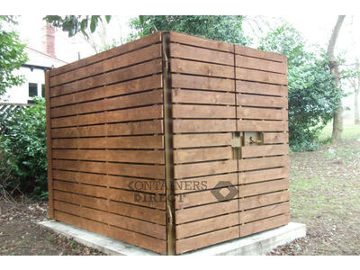 Shipping Container Conversions 10ft cladded storage container