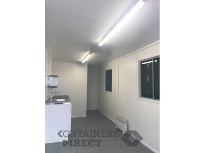 Shipping Container Conversions 20ft canteen with toilet