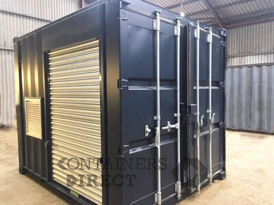 Shipping Container Conversions 20ft Falcon tunnel with roller shutters