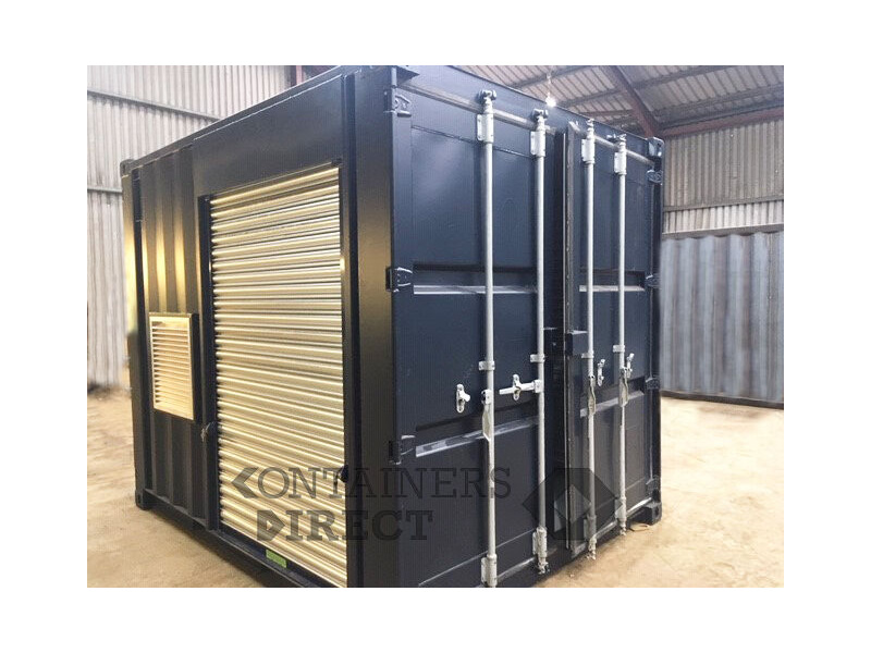 Shipping Container Conversions 10ft Falcon tunnel with roller shutters click to zoom image