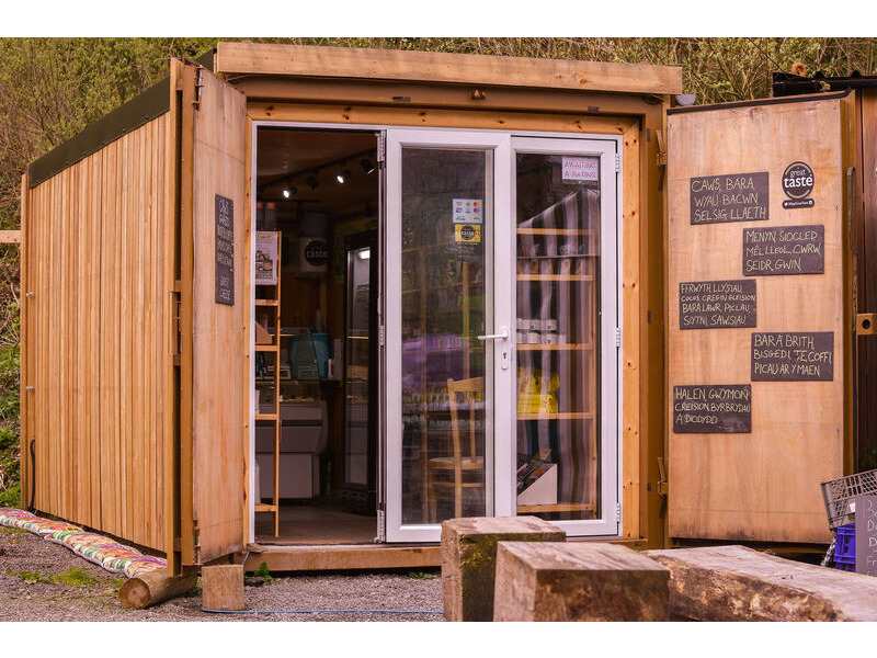 Shipping Container Conversions 20ft cladded farm shop click to zoom image